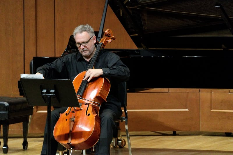 Brent Wissick performing on cello. Wissick will be playing viola da gamba at the Madama Europa recital. Photo courtesy of Joshua Walker.