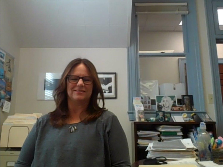 Criminal Justice Resource Director Caitlin Fenhagen poses for a portrait over Zoom on April 5, 2021.