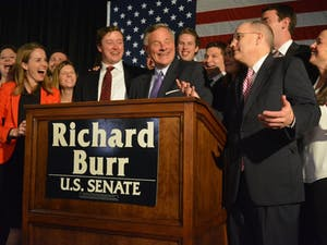Richard Burr wins the North Carolina Senatorial Race. He held his election party at the Forsyth Country Club in Winston-Salem.