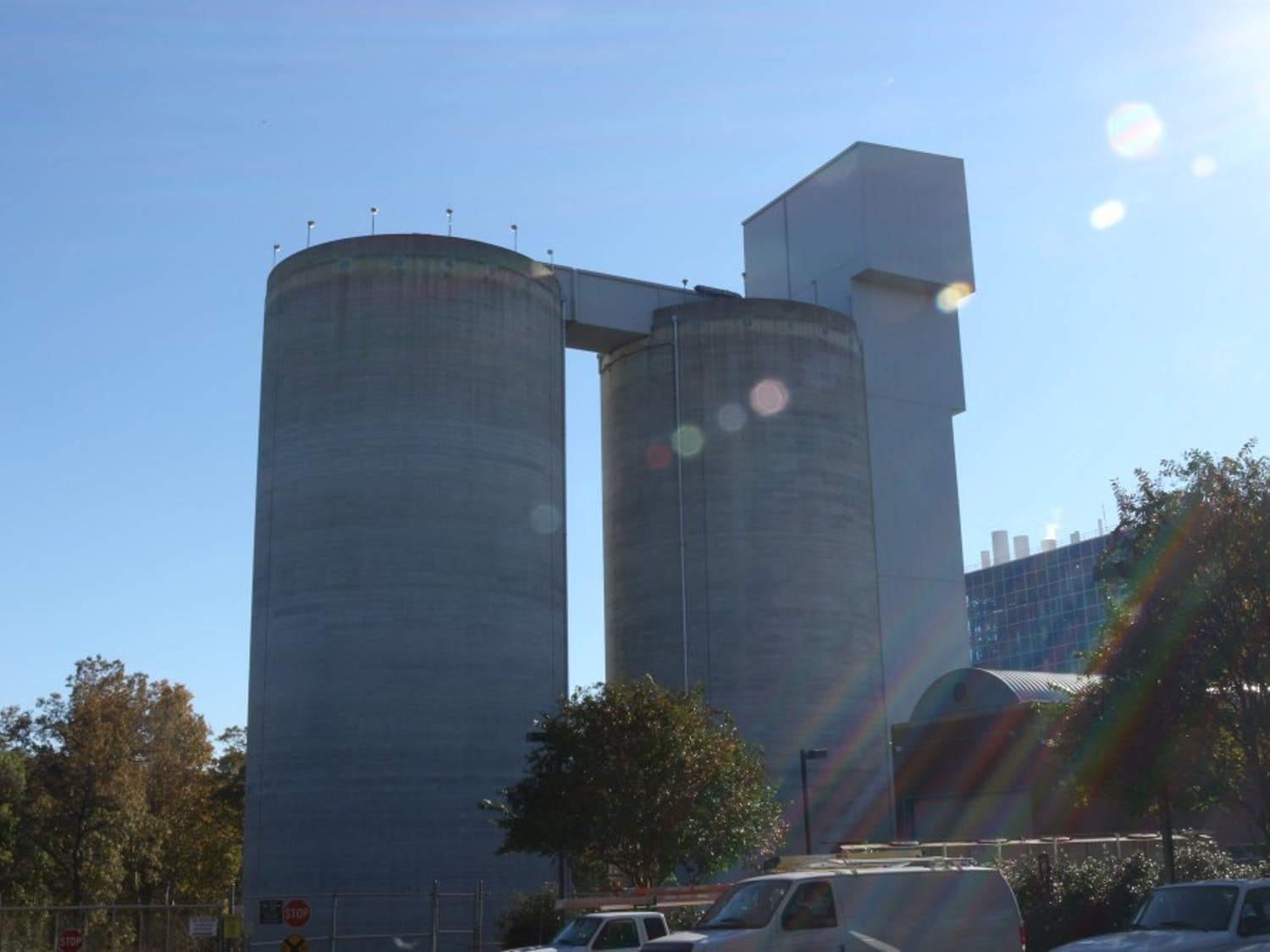 The UNC-Chapel Hill Cogeneration Facility is a coal-fired power station located west of campus on McCauley St. This photo was taken Saturday, Nov. 10, 2018.