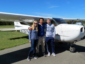 The Carolina General Aviation club hosted a flying event at Horace Williams Airport in April 2017. Photo courtesy of Daniel Schwartz.