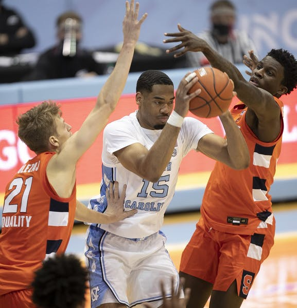 In win over Syracuse, Garrison Brooks is becoming himself again