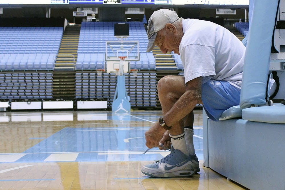 An evening with North Carolina's oldest living basketball alumnus