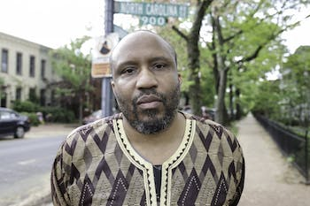Carrboro's poet laureate Fred Joiner is expanding his efforts to integrate art and poetry into Orange County through new projects. Photo courtesy of Jati Lindsey.