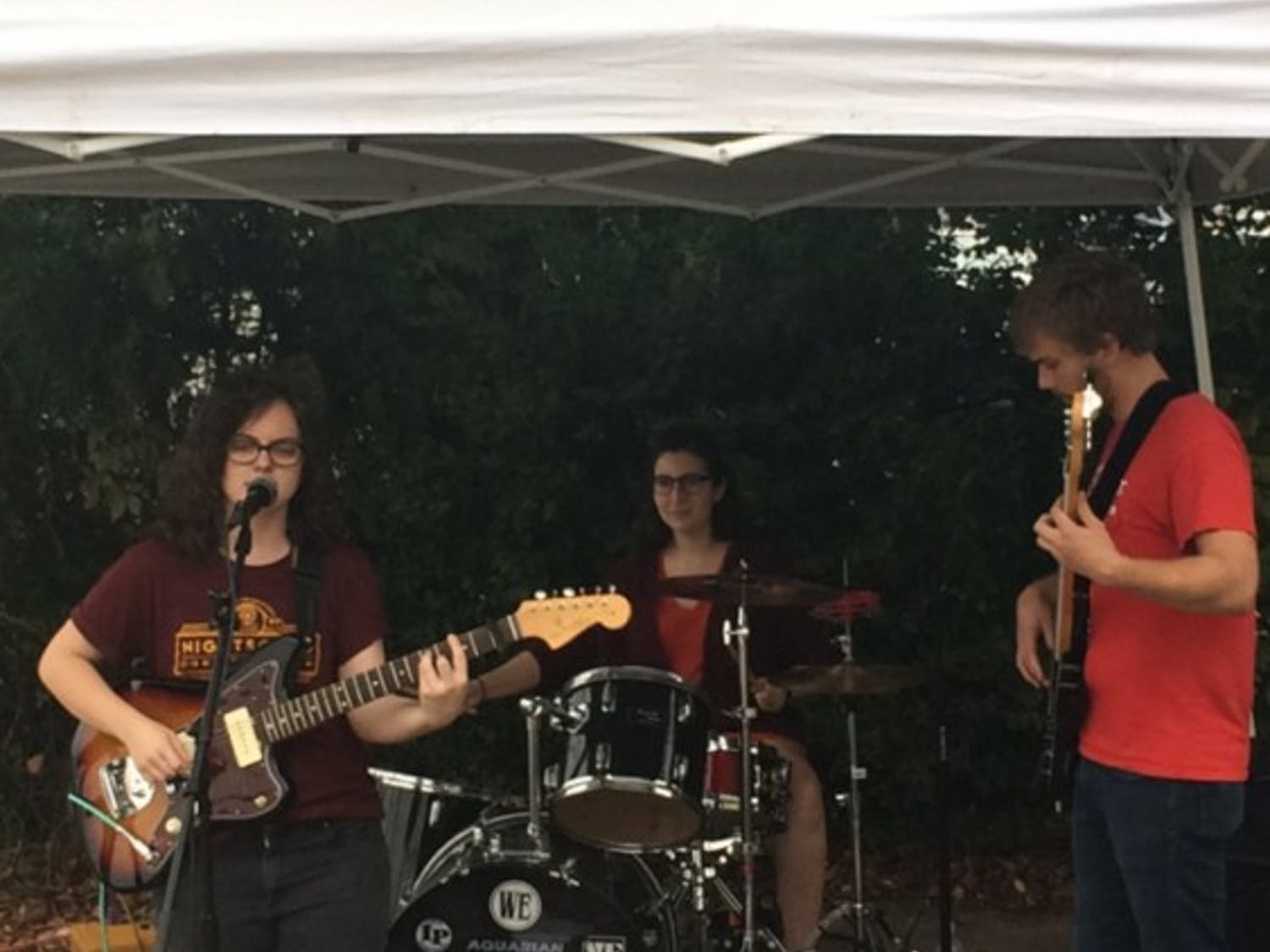 MK Rodenbough, a junior from Greensboro, played at the Carrboro Music Festival.