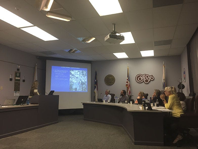 Carrboro Board of Aldermen discuss a proposed amendment to keep downtown buildings short