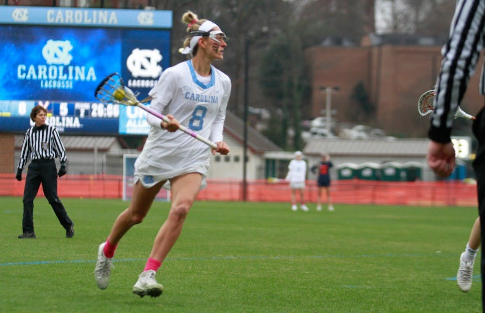 UNC women's lacrosse handles No. 3 Syracuse, 11-5, in team effort on senior day
