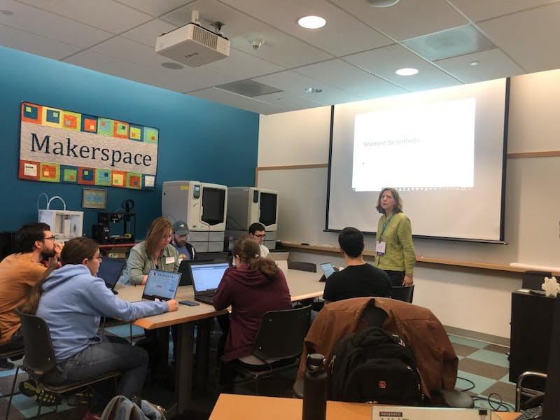 Kenan Science Library's Wikipedia Edit-a-thon taught attendees how to edit entries related to women in science.