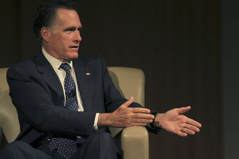 Governor Mitt Romney spook to students at Duke University Wednesday afternoon about public policy and foreign affairs.