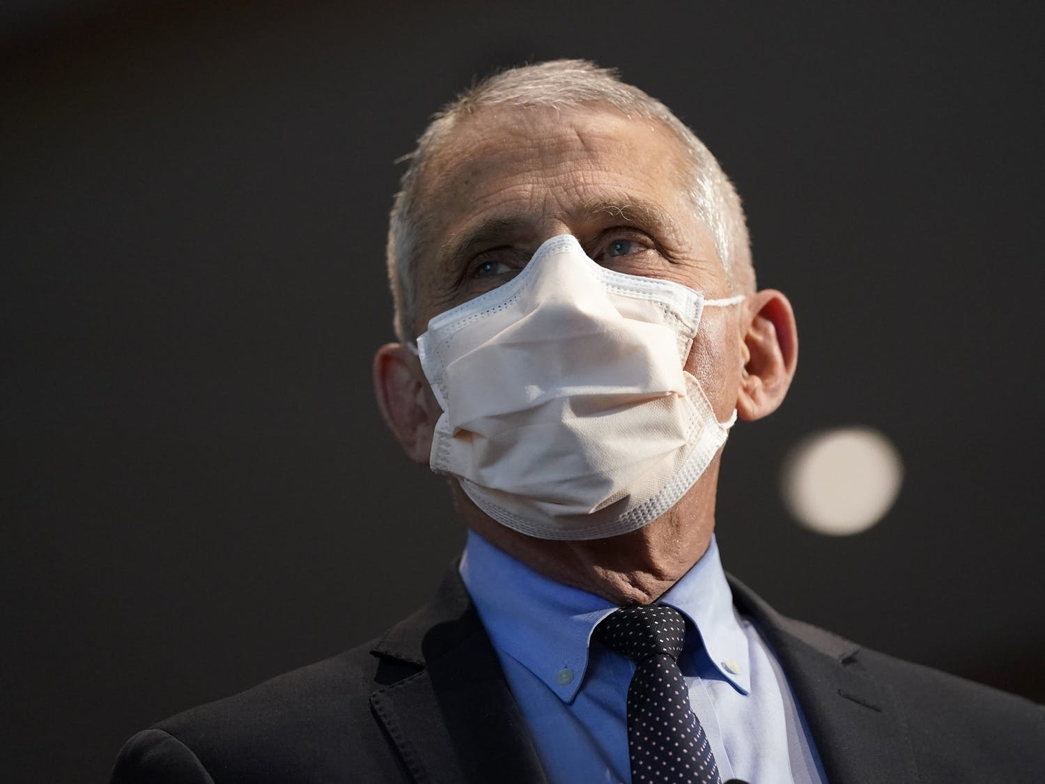 Dr. Anthony Fauci, director of the National Institute of Allergy and Infectious Diseases, at the National Institutes of Health on Dec. 22, 2020, in Bethesda, Md. Photo courtesy of Patrick Semansky/Getty Images