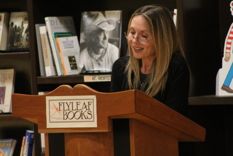 "Ashely Warner reads from her book ""The Year After: A Memoir,"" as part of a benefit for the Orange County Rape Crisis Center."