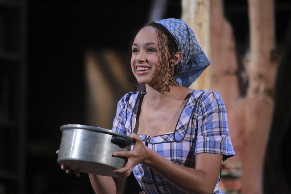 """<p>Caroline Strange plays the role of Cinderella in """"Into the Woods.""""</p>"""