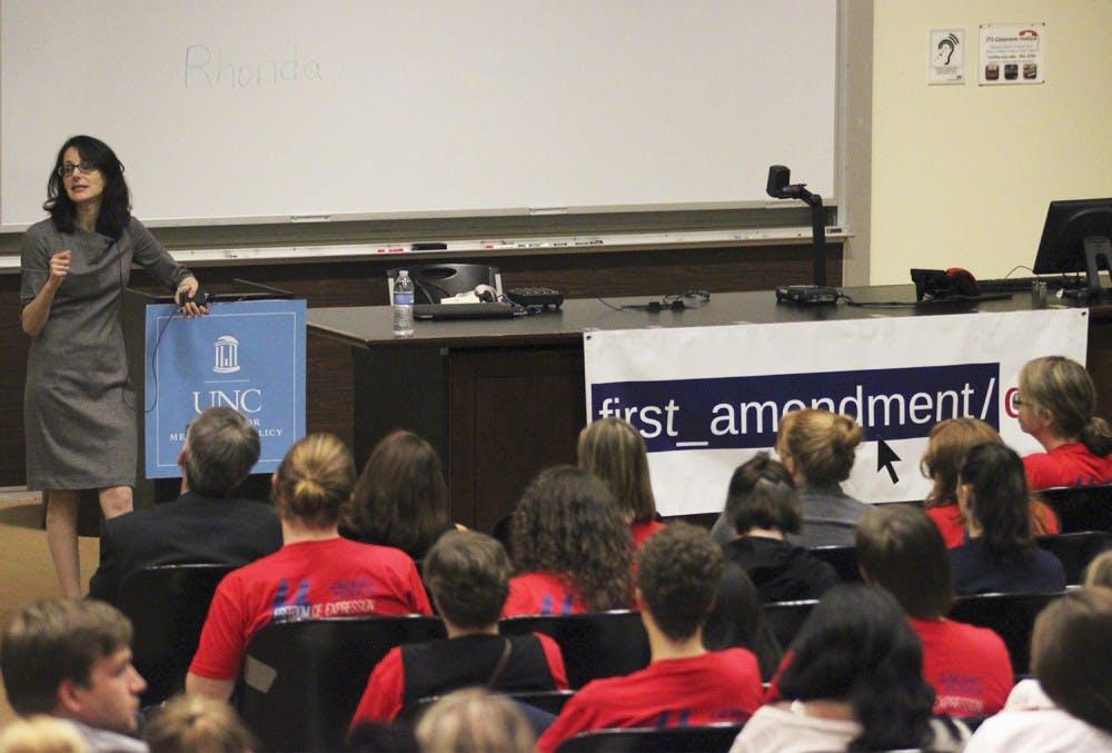 First Amendment Day keynote addresses online harassment