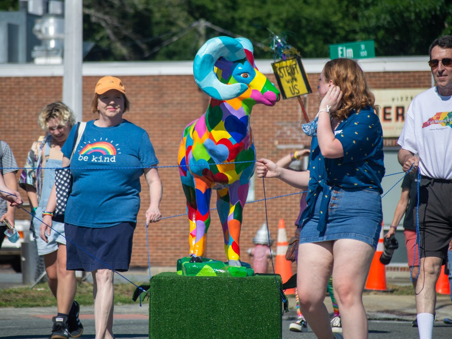 On Thursday, June 24, 2021, community members gathered in Carrboro for the Pride Food Truck Rodeo and Dance Party.