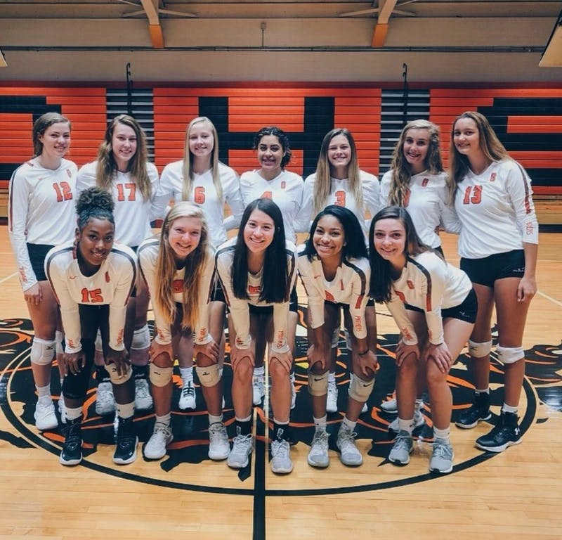 The Orange High School volleyball team is holding their first official practices this week. Photo courtesy of Chloe Riley.