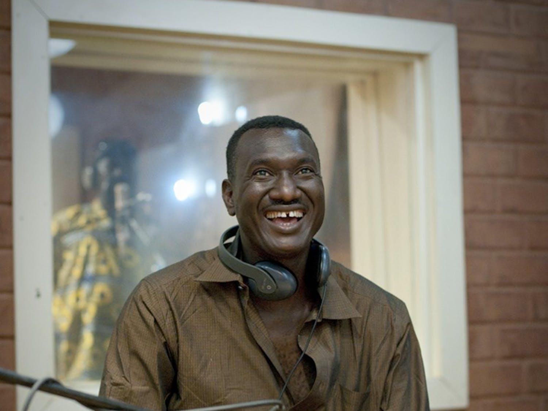 Mali, Bamako, Bassekou Kouyate, studio recording 03/2012