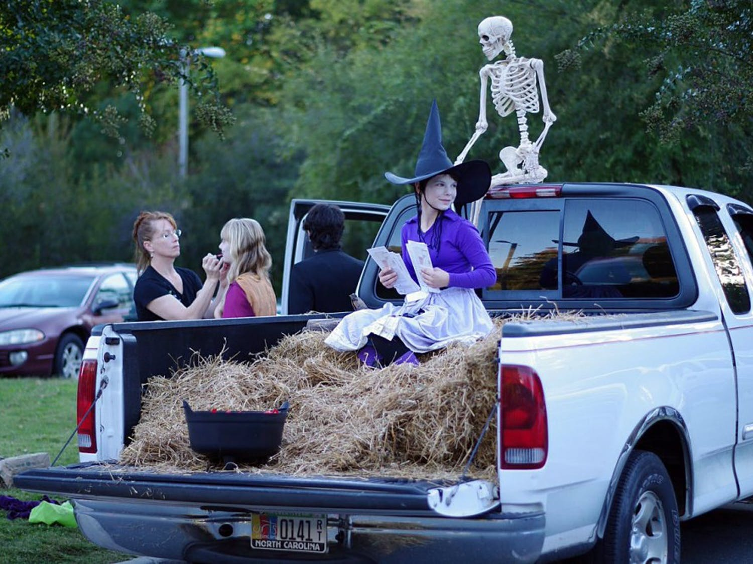 """TheTown of Chapel Hill Parks and Recreation Department hosted its second annual """"Haunted H.A.C."""" which featured a trunk or treat."""