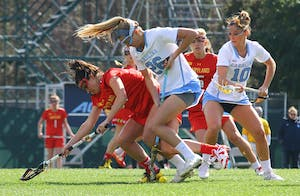 UNC women's lacrosse falls to Maryland 8-7 onSaturday.