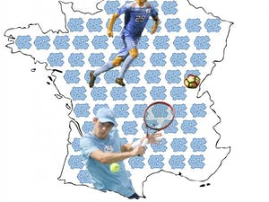 Robert and Jeremy Kelly lived in France for most of their childhood, but both brothers now play varsity sports at UNC.
