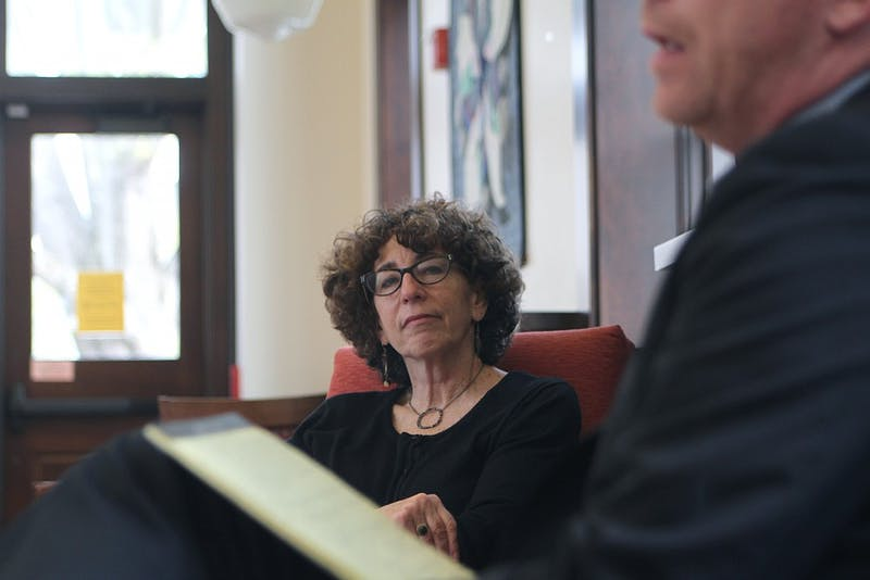 Deborah Weissman, the Reef Ivey II Distinguished Professor of Law, spoke with students about the problems associated with North Carolina's use of solitary confinement in prisons Wednesday.