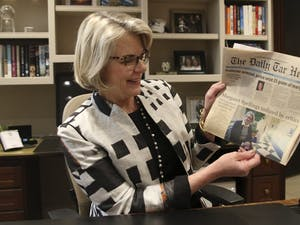 UNC-System Body President Margaret Spellings has held office for one year.