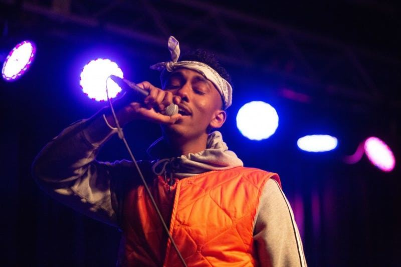 Jemal Abdulhadi performs at the Cat's Cradle Back Room on Thursday, Jan. 31, 2019 at the King of the Hill: Hip Hop Showcase to promote and celebrate Abdulhadi's album release under the name of J Dasani.