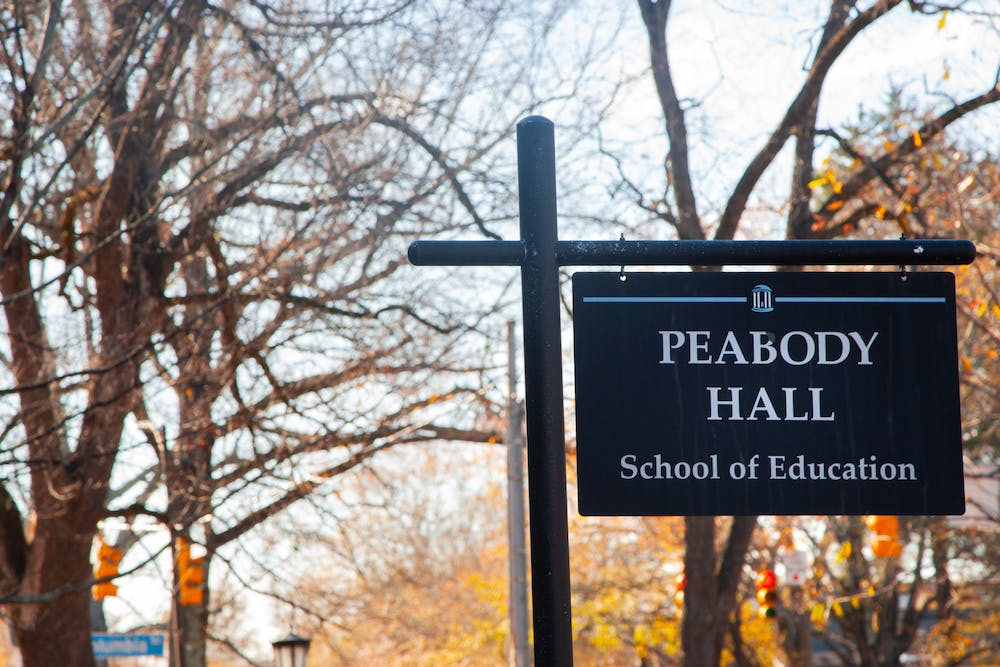 Peabody Hall on UNC-Chapel Hill's campus, pictured here on Dec. 11, 2020 hosts the School of Education which is working with Durham Public Schools on the UNC DREAM project.