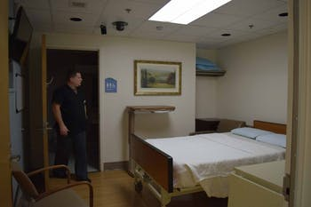 Inside the Sleep Center on Jan. 17, 2019. The Sleep Disorders Center is located on the first floor of the Anderson Pavilion in the NC Memorial Hospital. Currently, the sleep center is going under renovations which are expected to be completed in by next week. All the rooms have their own television and private bathroom. When the renovation is completed all the rooms will have cameras that will help the doctors check on the patients during the night.