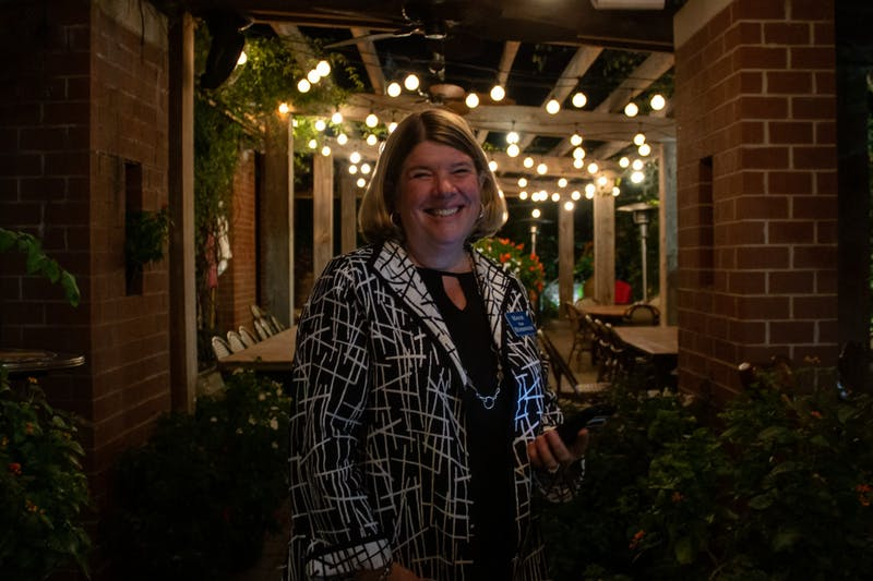 Incumbent Chapel Hill Mayor Pam Hemminger is photographed outside her campaign party at City Kitchen on Nov. 5, 2019.  Hemminger is running for her third term as Mayor of Chapel Hill.