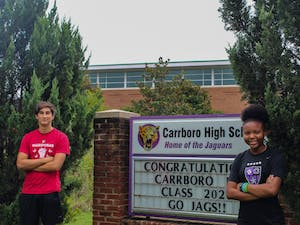 "Carrboro High School seniors Navia Mosley and Phoenix Tudryn are two of the students who recently launched The Black and Brown Student Coalition podcast about living as a student of color right now during the pandemic. ""We wanted to give a voice to the black and brown kids in our school to be able to speak to teachers directly as to what they can do better to support them,"" Tudryn said."