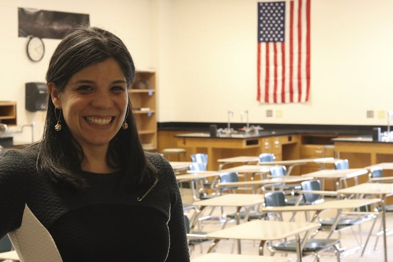 East Chapel Hill High School teacher Patty Berge chose to participate in the Women's March Wednesday regardless of the school's closing. Berge has been teaching at the school for 17 years.