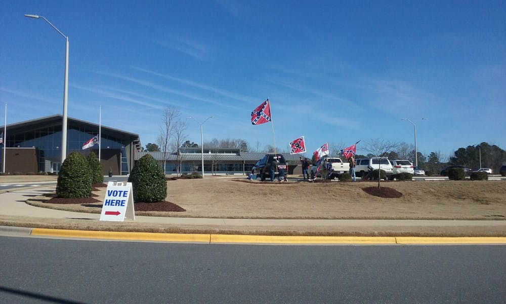 Confederate presence at Chatham County early voting site raises intimidation questions