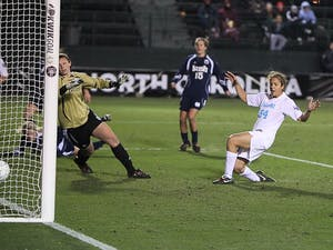 Casey Nogueira scored the lone goal to lift the Tar Heels over the Fighting Irish in the College Cup Semifinals DTH/Phong Dinh