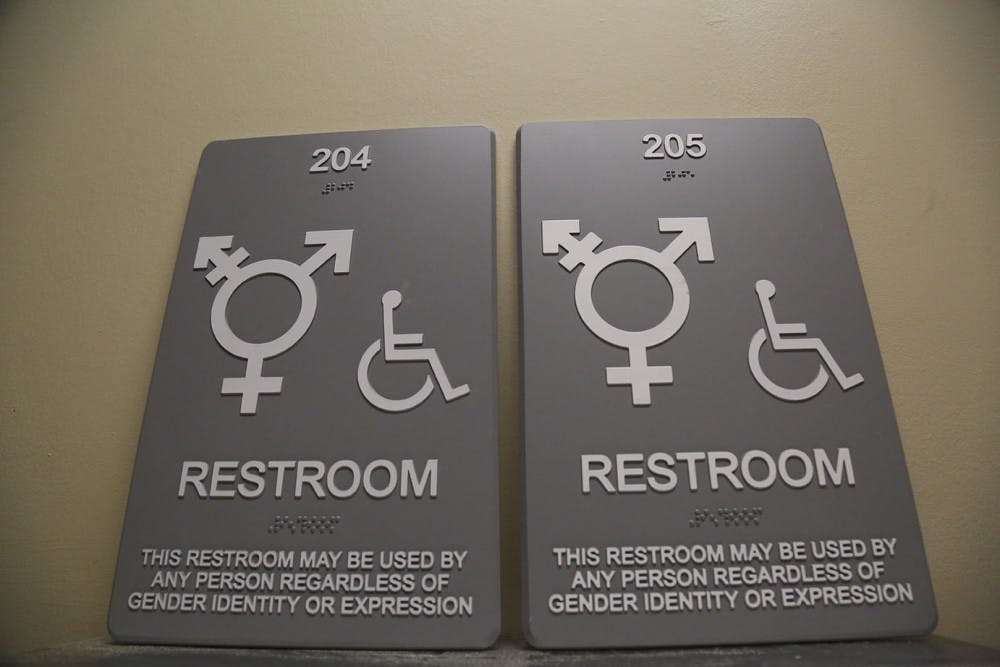 gender neutral bathroom signs to be replaced in campus y and across campus - Gender Neutral Bathroom Signs