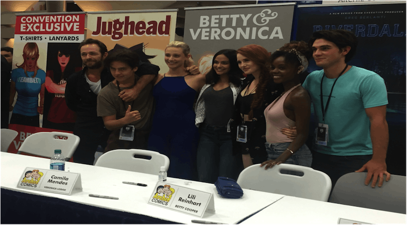 "The cast of ""Riverdale"" at the 2016 San Diego Comic-Con"