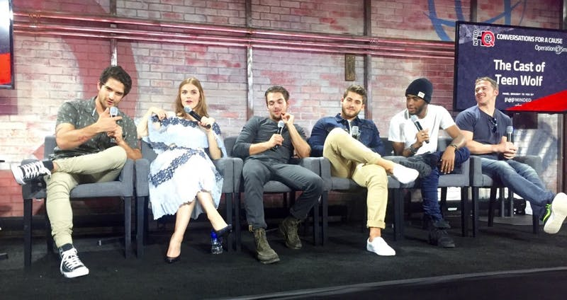"""The cast of """"Teen Wolf"""" spoke in a panel at Nerd HQ during San Diego Comic-Con 2016 for """"Conversations for a Cause."""""""