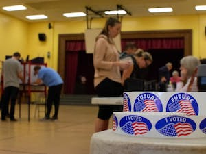 Voters cast their ballots at Frank Porter Graham Elementary School on Tuesday.
