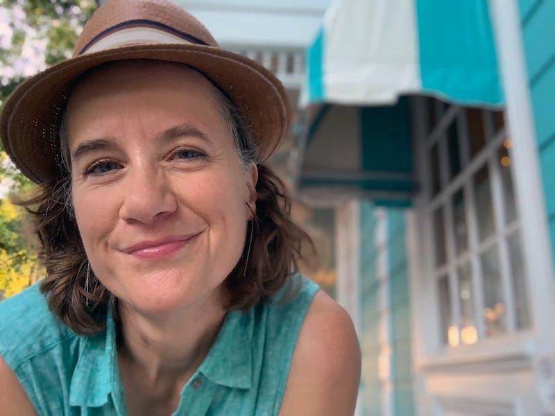 Susan Werner outside a restaurant in New Orleans. Photo courtesy of Susan Werner.