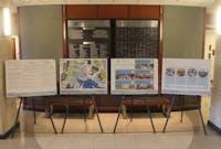 Posters explaining the Beryhill Hall renovation plans