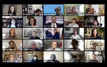 Screenshot from the Campus & Community Advisory Committee meeting held over Zoom on Tuesday, Oct. 27, 2020.