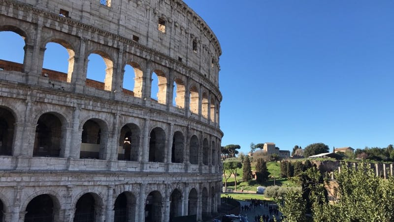 The Colosseum, a staple of Roman tourism.