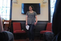 Rachel Guerra of the UNC Center of Excellence for Eating Disorders spoke about body image at the Campus Y Friday afternoon as a part of the Feminist Friday series.