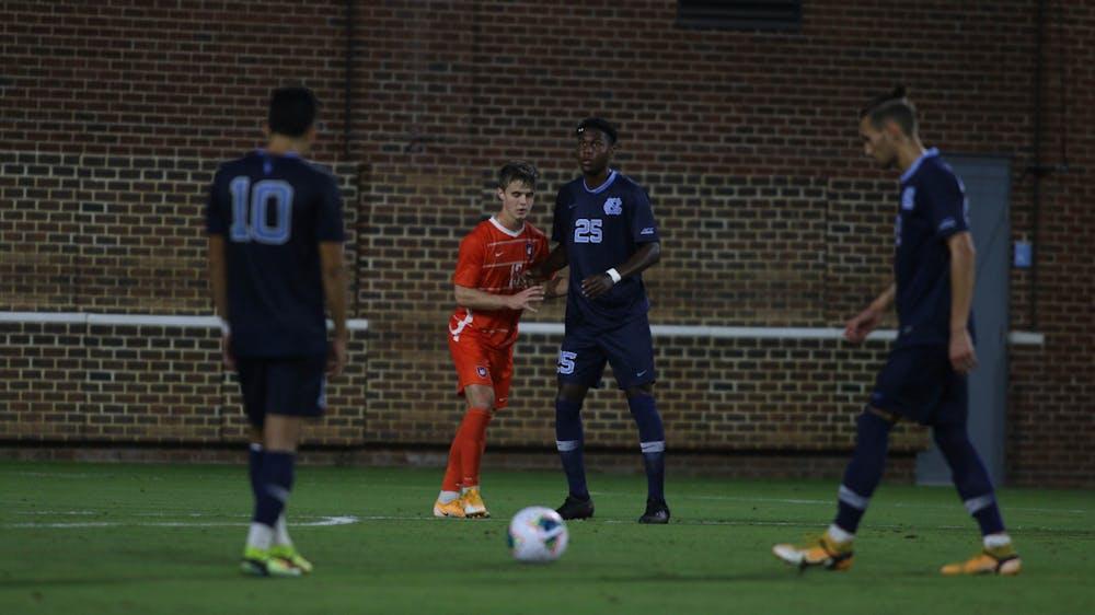 Filippo Zattarin's late-game heroics help UNC men's soccer upset No. 3 Clemson, 1-0