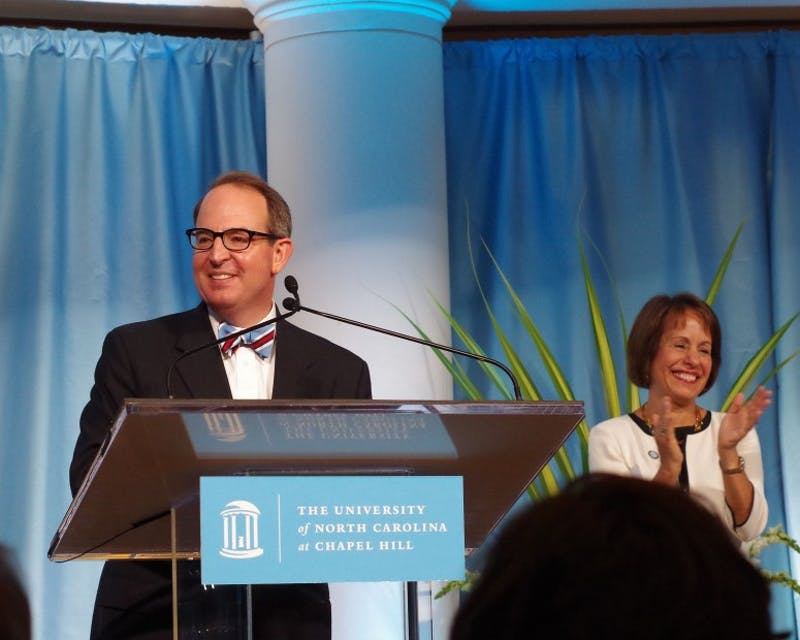 Martin Brinkley took the stage as the fourteenth dean of the UNC School of Law in June 2015.