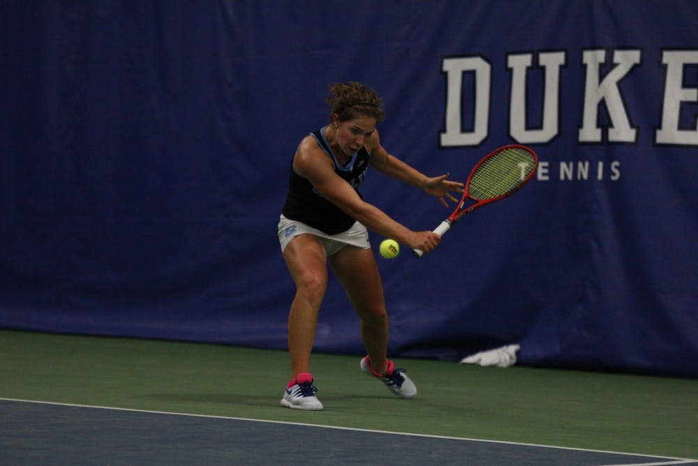 UNC women's tennis downs Miami, 4-0, and looks to grab fourth-straight ACC Championship