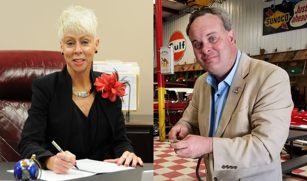 <p>Incumbent Democrat Beth Wood (left) and Republican Tony Street (right) are the candidates for N.C. State Auditor. Photos courtesy of Wood and Street.</p>