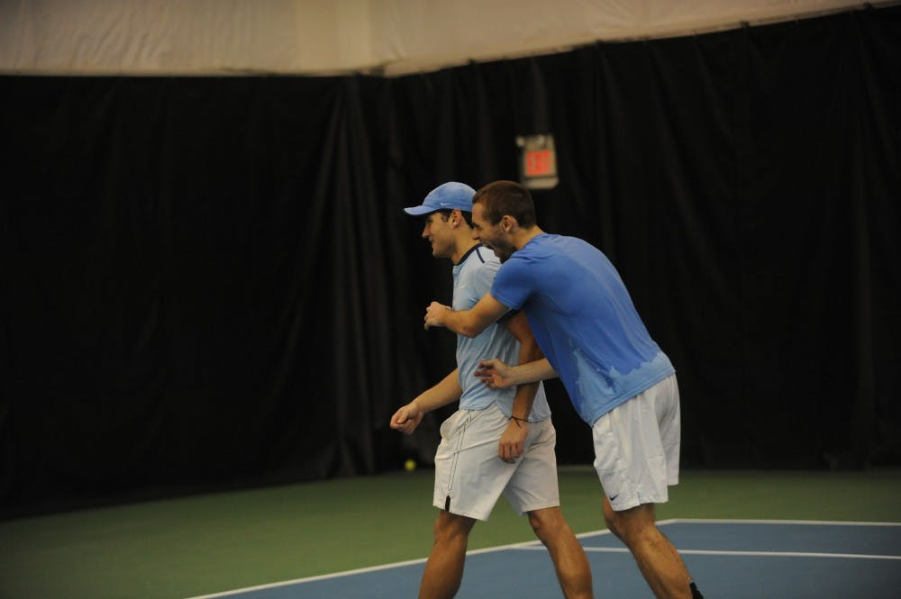 Two young players gained their teammates' respect in UNC men's tennis' win over Duke