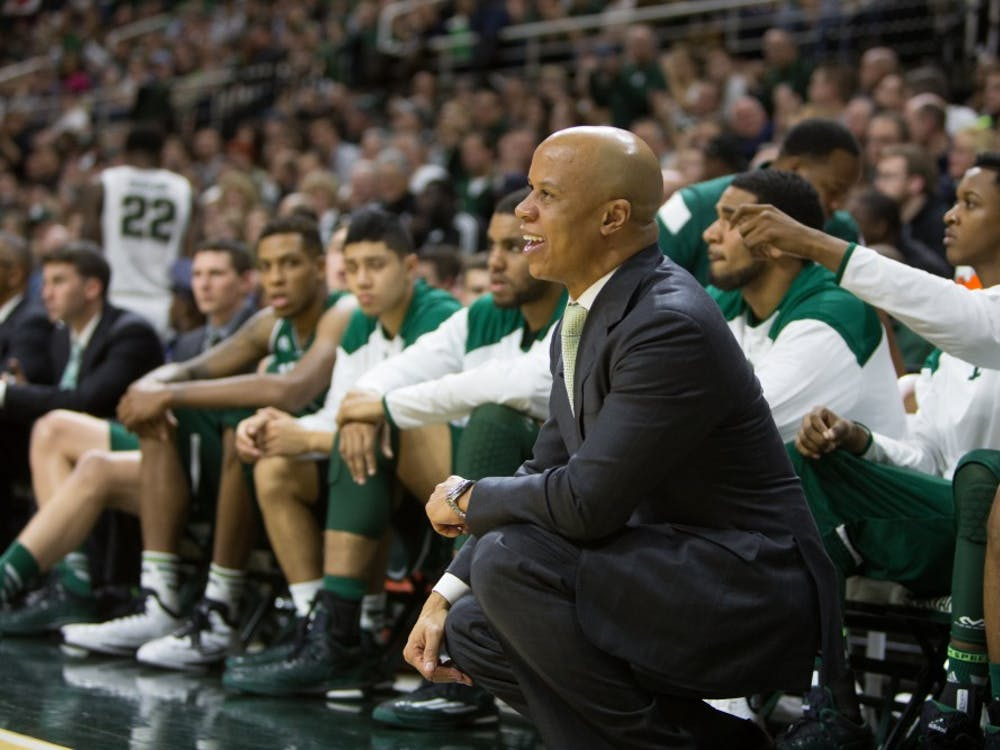 Rob Murphy reacts to call versus Michigan State in East Lansing on Wednesday, Dec. 18.