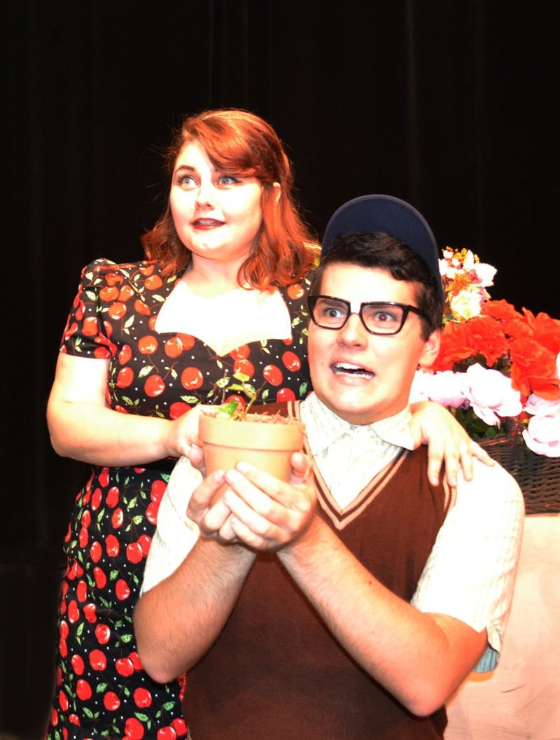 Kasey Donnelly as Audrey and Nick Whittaker as Seymour.