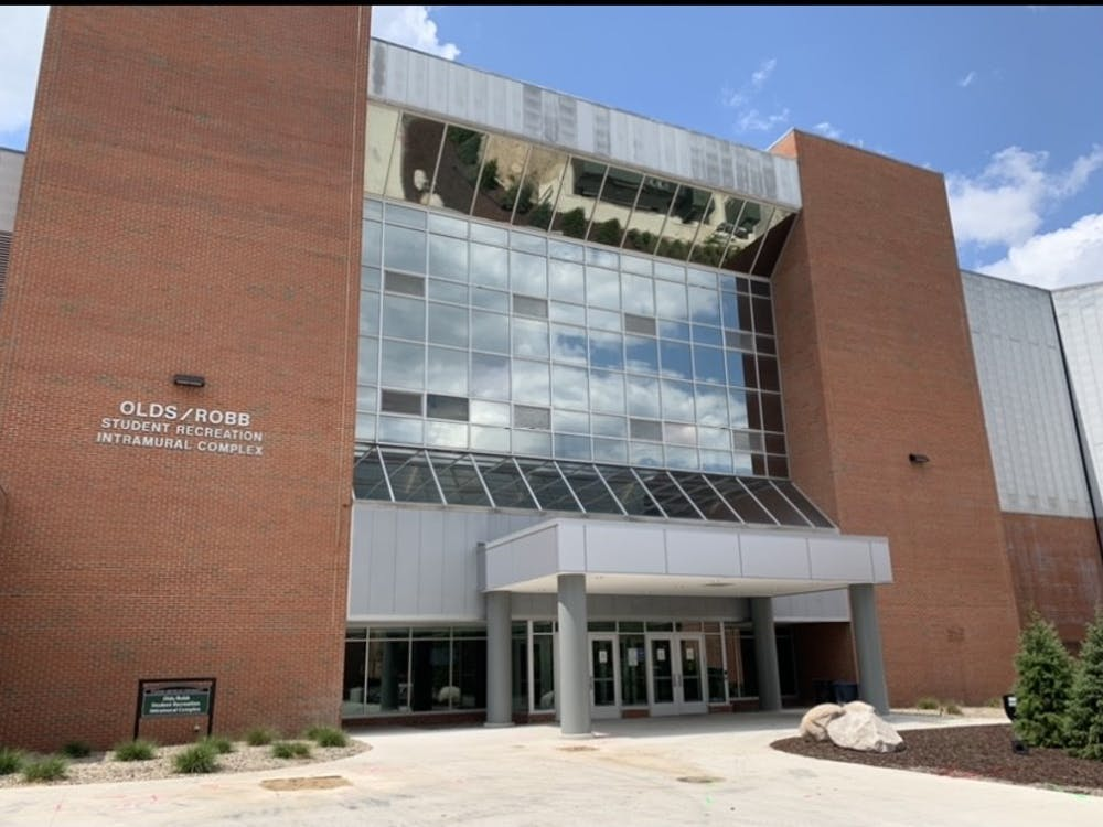 The Rec/IM building at Eastern Michigan University received a new facelift at both the north and east entrances during its renovation process that was completed fall 2020.